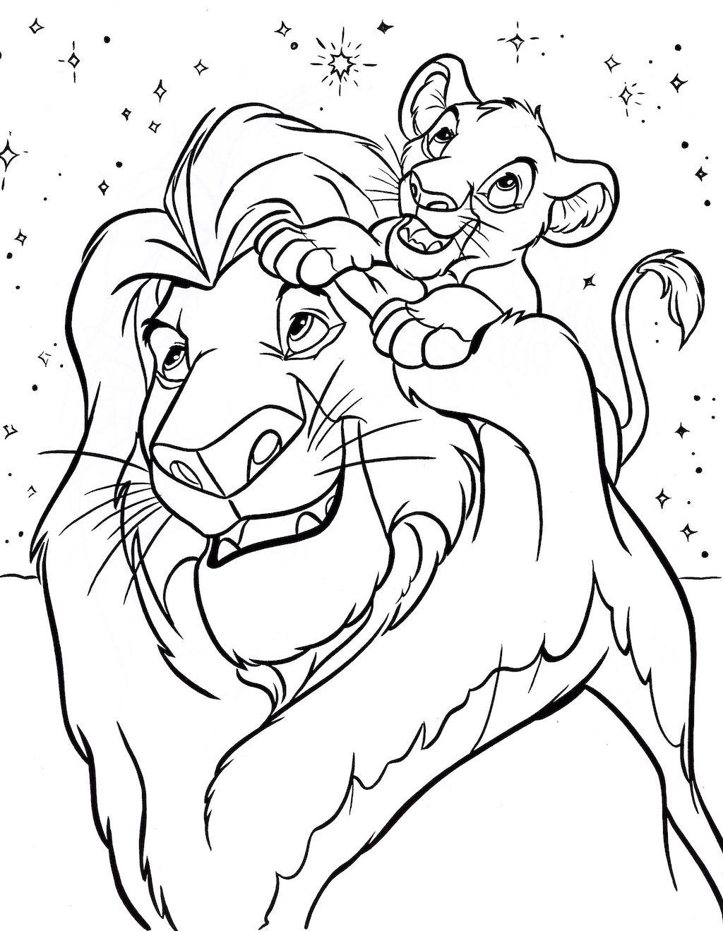 kleurplaat-lion-king01