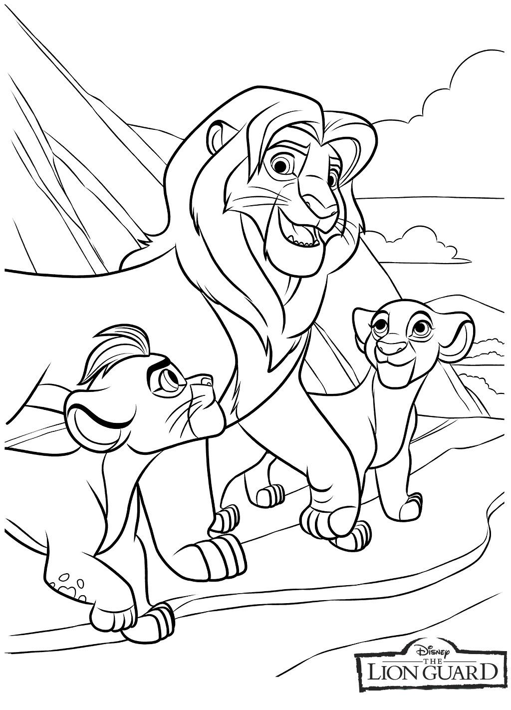 kleurplaat-lion-king09
