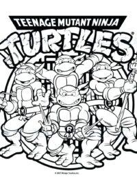 mutant turtles kleurplaten topkleurplaat nl