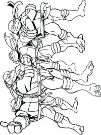 Kleurplaten Ninja Turtles.Teenage Mutant Ninja Turtles Kleurplaten Topkleurplaat Nl