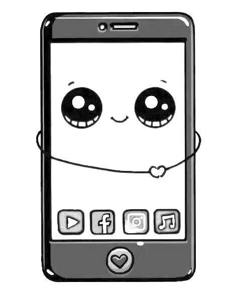 Schattig mobieltje