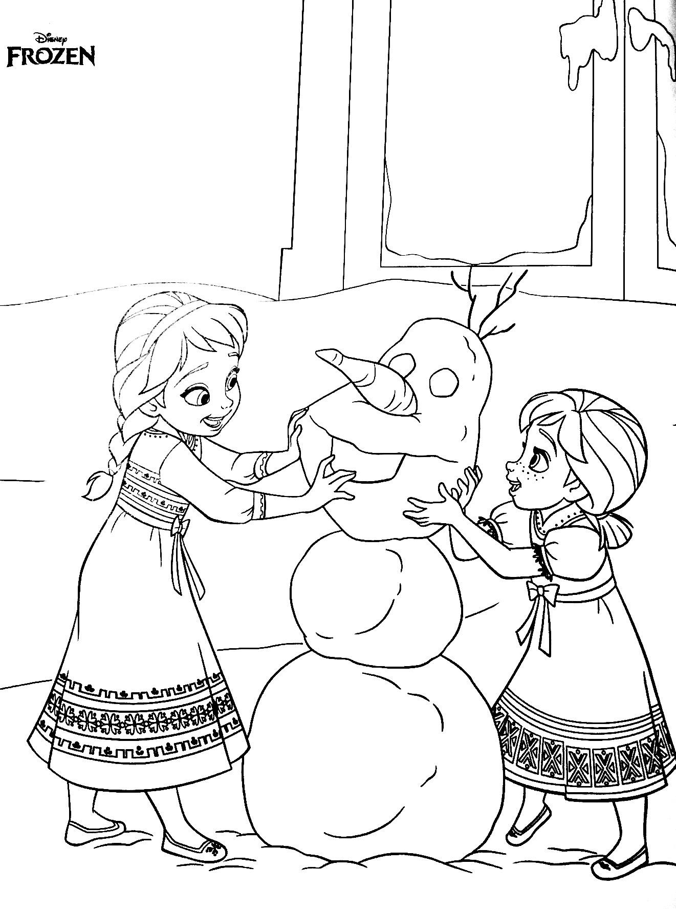 Anna Elsa en Olaf