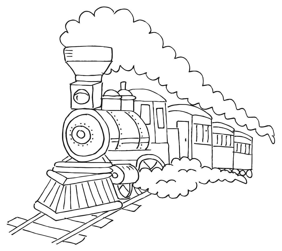 kleurplaat-trein-07