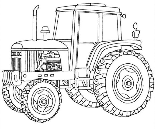 kleurplaat tractor 02 topkleurplaat nl