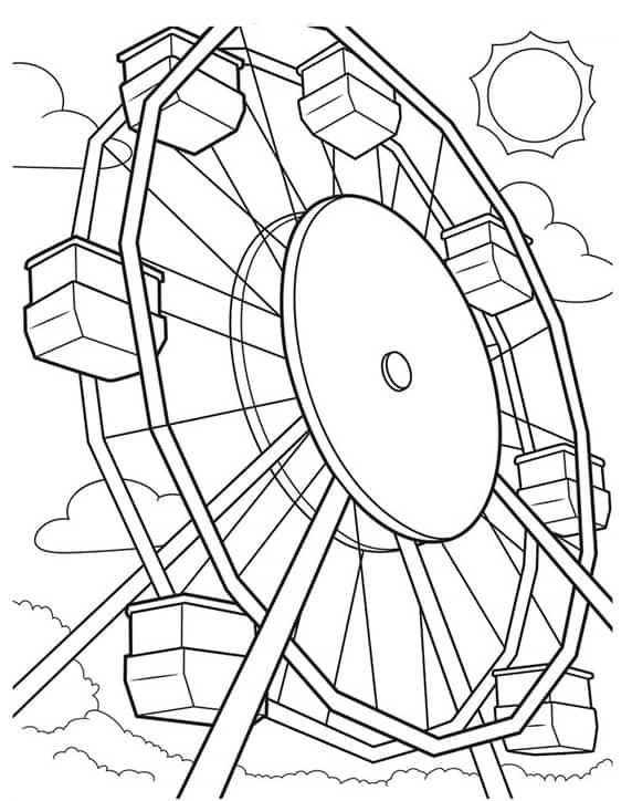 kermis kleurplaat 03 topkleurplaat nl