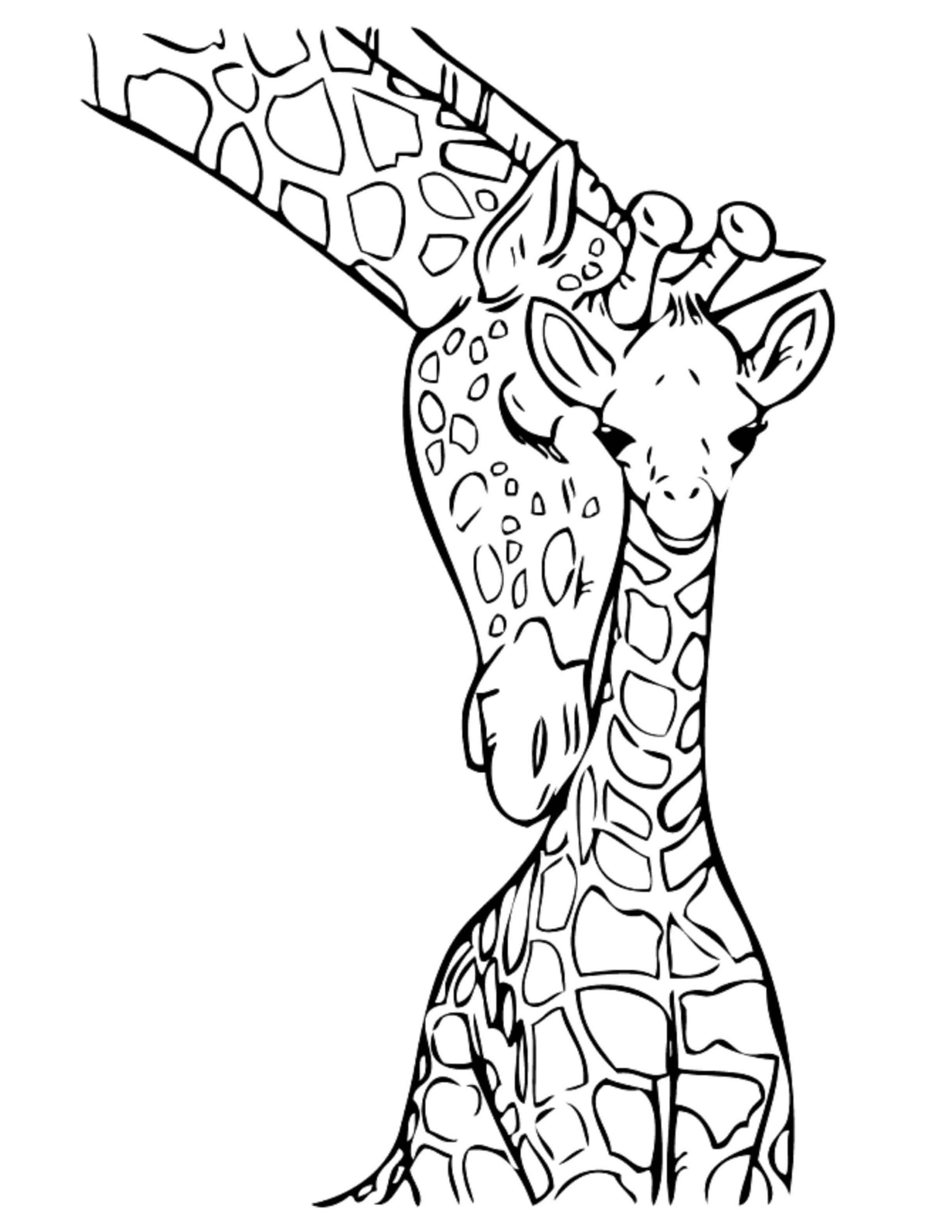 kleurplaat giraffe verjaardag