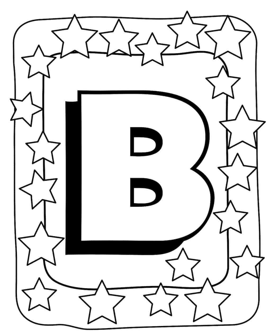 kleurplaat letter b 2 topkleurplaat nl