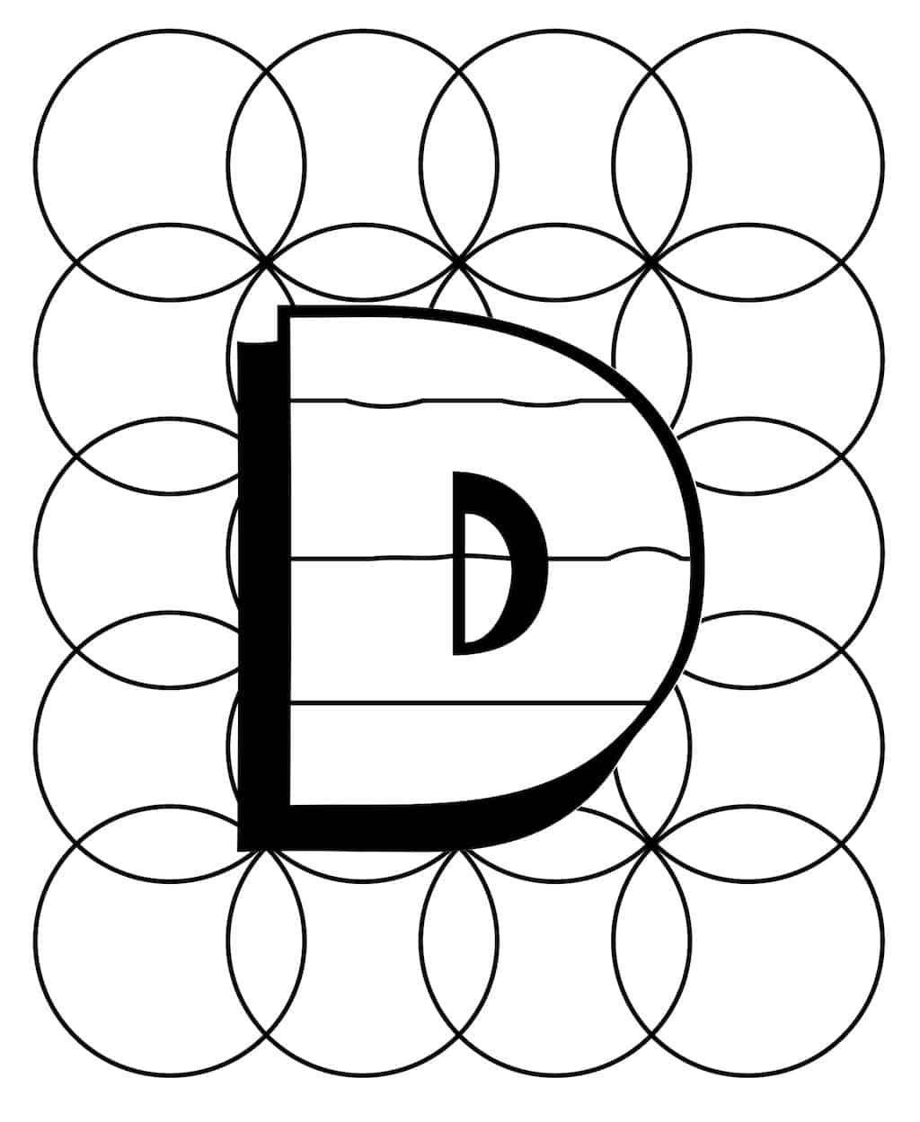 Kleurplaat Letter D 3 Topkleurplaat Nl