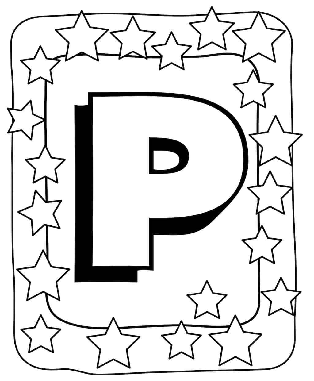Kleurplaat Letter P 2 Topkleurplaat Nl