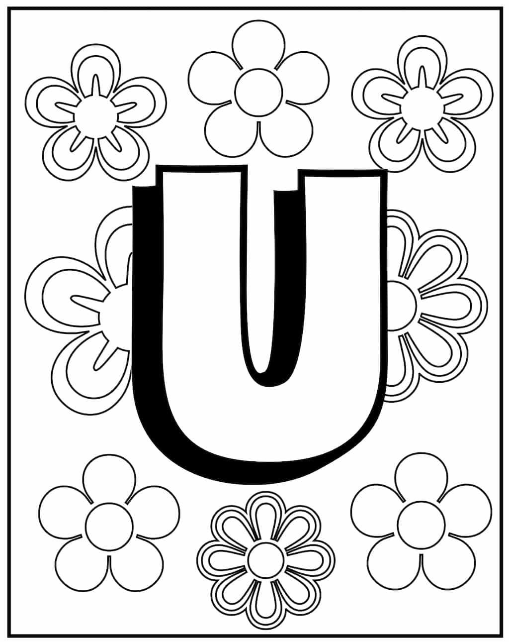 kleurplaat letter u 2 topkleurplaat nl
