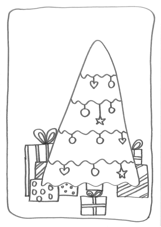kerstboom met cadeaus