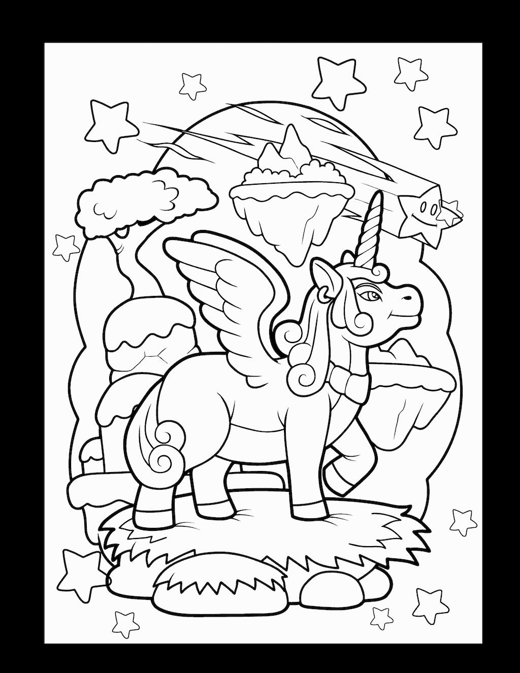 kleurplaat eenhoorn 35