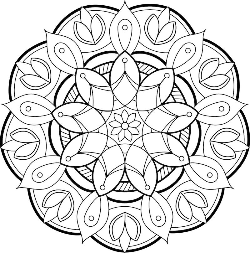 mandala met bloemen