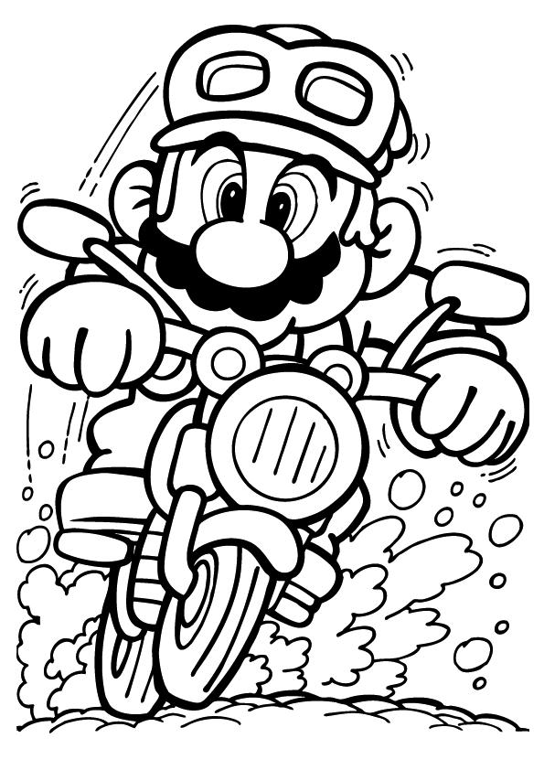 Super Mario op de motor