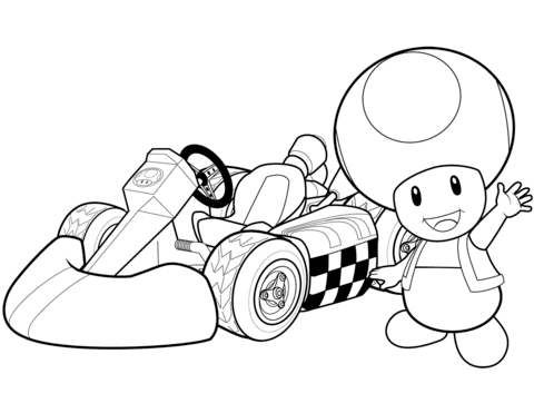 Toad Mario Kart